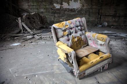 Old Broken Recliner Chair